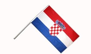 Image of   Kroatien Håndflag (15x22cm)