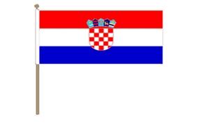 Image of   Kroatien Håndflag (30x45cm)