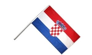 Image of   Kroatien Håndholdt Papirflag (20x27cm)