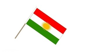 Image of   Kurdistan Håndflag (15x22cm)