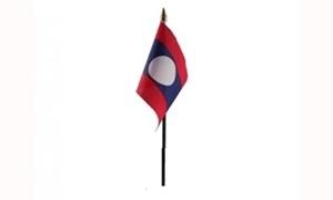 Image of   Laos Håndflag (10x15cm)