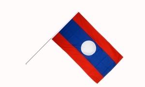 Image of   Laos Håndflag (15x22cm)