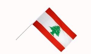 Image of   Libanon Håndflag (15x22cm)