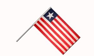 Image of   Liberia Håndflag (15x22cm)
