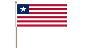 Image of   Liberia Håndflag (30x45cm)