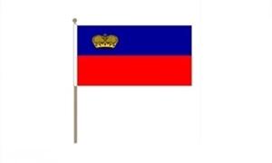 Image of   Liechtenstein Håndflag (30x45cm)