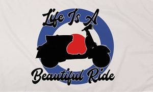 Image of   Life Is A Beautiful Ride Flag (90x150cm)