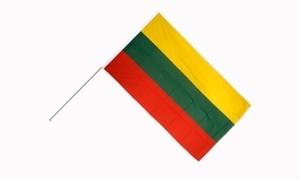 Image of   Litauen Håndholdt Papirflag (20x27cm)