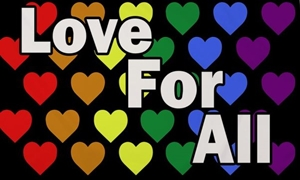 Image of   Love For All Flag (90x150cm)