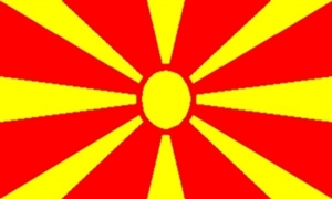 Image of   Makedonien Flag (90x150cm)