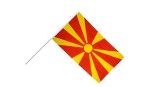 Image of   Makedonien Håndholdt Papirflag (20x27cm)