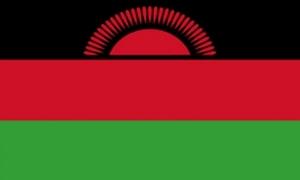 Image of   Malawi Flag - Rød Sol (90x150cm)