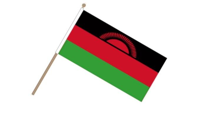 Image of   Malawi Håndflag (15x22cm)