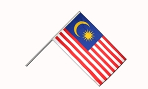 Image of   Malaysia Håndflag (15x22cm)