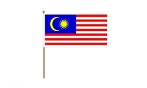 Image of   Malaysia Håndflag (30x45cm)