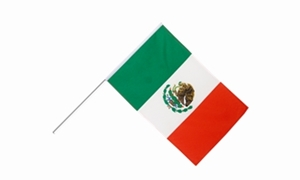 Image of   Mexico Håndflag (15x22cm)