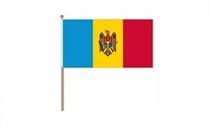 Image of   Moldova Håndflag (30x45cm)