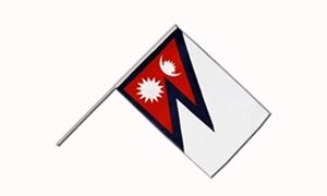 Image of   Nepal Håndflag (15x22cm)