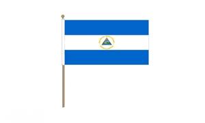 Image of   Nicaragua Håndflag (30x45cm)