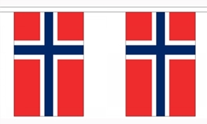Image of   Norge Guirlander 3m (10 flag)