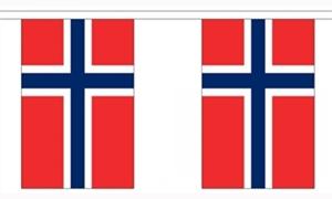 Image of   Norge Guirlander 9m (30 flag)