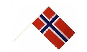 Image of   Norge Håndholdt Papirflag (20x27cm)