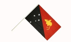 Image of   Papua Ny Guinea Håndflag (15x22cm)
