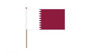 Image of   Qatar Håndflag (30x45cm)