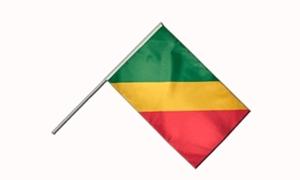 Image of   Republikken Congo Håndflag (15x22cm)