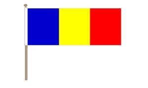 Image of   Rumænien Håndflag (30x45cm)