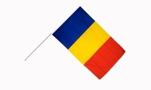 Image of   Rumænien Håndholdt Papirflag (20x27cm)