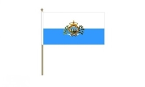 Image of   San Marino Stat Håndflag (30x45cm)