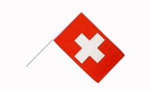 Image of   Schweiz Håndholdt Papirflag (20x27cm)