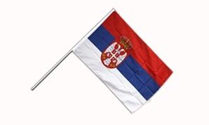 Image of   Serbien Stat Håndflag (15x22cm)