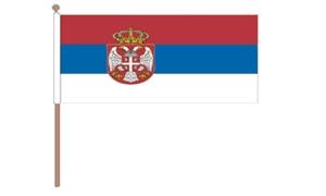 Image of   Serbien Stat Håndflag (30x45cm)