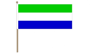 Image of   Sierre Leone Håndflag (30x45cm)