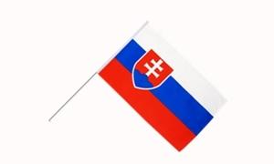 Image of   Slovakiet Håndflag (15x22cm)