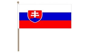 Image of   Slovakiet Håndflag (30x45cm)