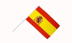 Image of   Spanien Stat Håndholdt Papirflag (20x27cm)