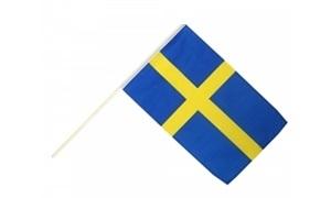 Image of   Sverige Håndholdt Papirflag (20x27cm)