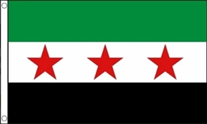 Image of   Syrien Rebel Flag (90x150cm)