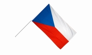 Image of   Tjekkiet Håndholdt Papirflag (20x27cm)