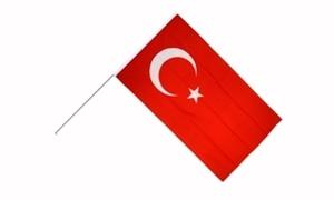 Image of   Tyrkiet Håndholdt Papirflag (20x27cm)