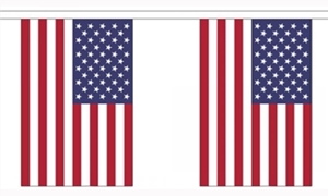Image of   USA Guirlander 9m (30 flag)