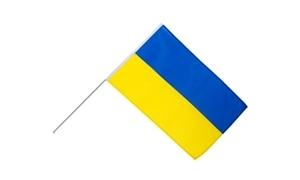 Image of   Ukraine Håndholdt Papirflag (20x27cm)