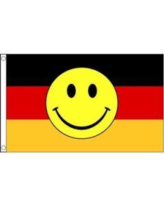 Tyskland Smiley Flag (90x150cm)