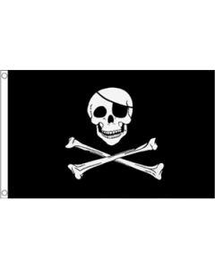 Skull and Crossbones Flag (90x150cm)