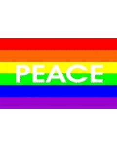 Rainbow Peace Flag (90x150cm)