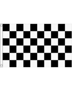 Black and White Check Flag (60x90cm)
