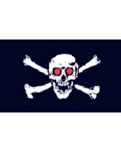 Jolly Roger Red Eyes - Pirat Flag (90x150cm)